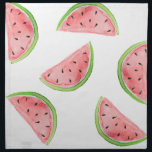 "watercolor watermelon slices cloth napkin<br><div class=""desc"">watercolor watermelon slices</div>"