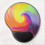 "Watercolor Wave - Gel Mousepad<br><div class=""desc"">This exciting watercolor pattern stands out with its dynamic imagery featuring all the colors of the rainbow.</div>"