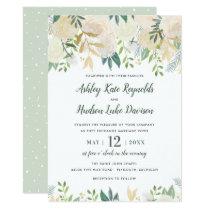 Watercolor Wedding Invitations   Neutral Blooms