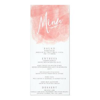 Watercolor Wedding Menu Card Personalized Invites