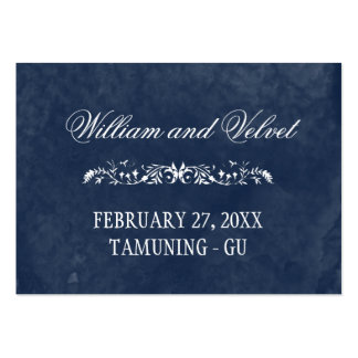 Watercolor Wedding Place Cards Large Business Card