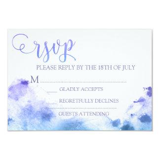 Watercolor Wedding R.S.V.P Response Card Reply