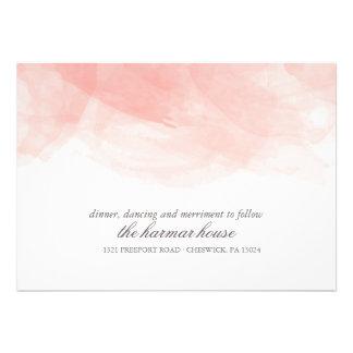 Watercolor Wedding Reception Card