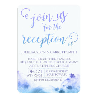 Watercolor Wedding Reception Invitation