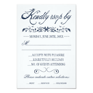 Watercolor Wedding Response Cards Personalized Invitations