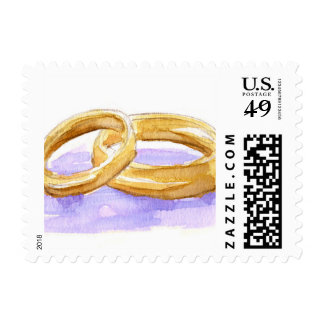 Watercolor Wedding Ring Stamp
