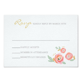 Watercolor Wedding RSVP Cards Personalized Invites