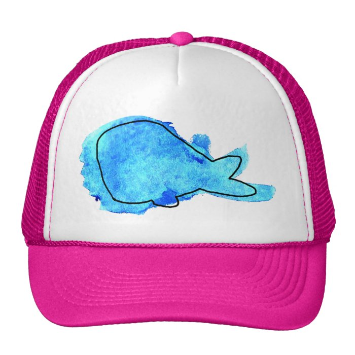 Watercolor Whale Trucker Hat