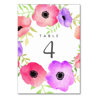 Watercolor Whimsical Floral Wedding Card