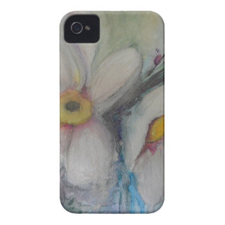 Watercolor White Flower Case-Mate iPhone 4 Case