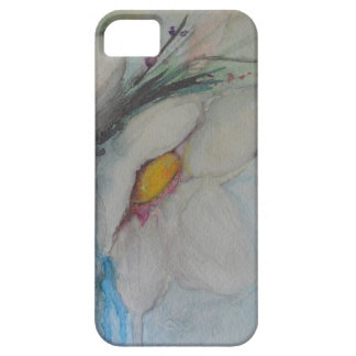 Watercolor White Flower iPhone 5 Case