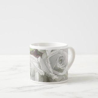 Watercolor White Roses - Espresso Cup