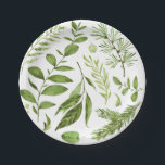"Watercolor Wild Green Foliage Leaves Cluster Paper Plate<br><div class=""desc"">Stylish and whimsical paper plates featuring green watercolor leaves pattern This will be perfect for spring and fall events.</div>"