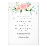 Watercolor Wildflower Wedding Invitation