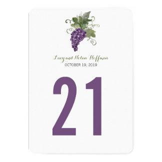 Watercolor Wine Vineyard | Table Number