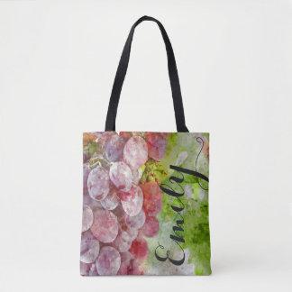 Watercolor Wine Vineyard Tote Bag