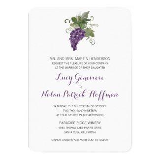 Watercolor Wine Vineyard | Wedding Card
