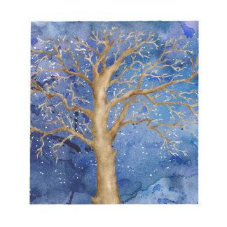 Watercolor Winter Oak Tree Notepad