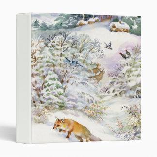 Watercolor Winter Scene Binder