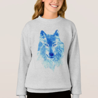 Watercolor Winter Wolf Sweatshirt
