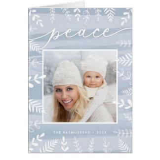 Watercolor Wish   Folded Holiday Photo Card
