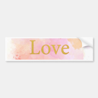 watercolor with gold bumper sticker