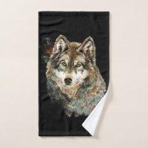 Wolf Bath Towels Zazzle