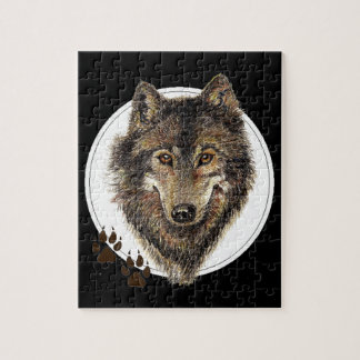 Watercolor Wolf, Wolves, Nature Collection Puzzle