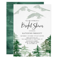 Watercolor Woodland Bridal Shower Invitation