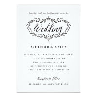 Watercolor Woodland Wedding Simple Invitation