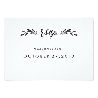 Watercolor Woodland Wedding Simplified RSVP Card