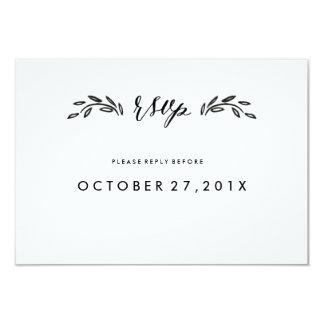 Watercolor Woodland Wedding Simplified RSVP Card
