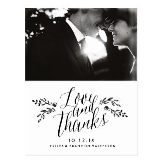 Watercolor Woodland Wedding Thank You Postcards