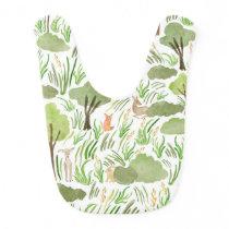 Watercolor Woodlands Baby Bib