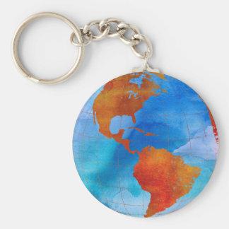 Watercolor World Keychain