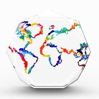 Watercolor World Map Award