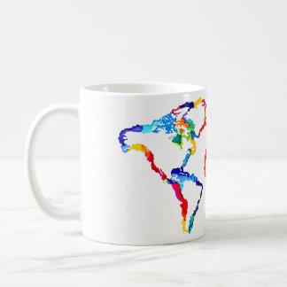 Watercolor World Map Coffee Mug
