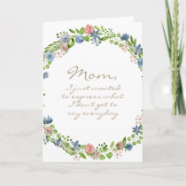 Watercolor Wreath -  Mother's Day Card