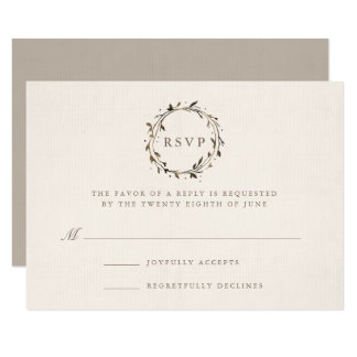 Watercolor Wreath RSVP Card | Twig