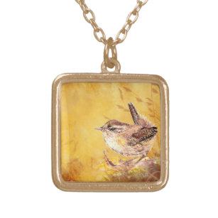 Marsh Wren Silver Pendant