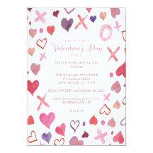 Valentines Day Party Invitations U0026 Announcements | Zazzle
