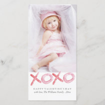 Watercolor XOXO Valentine's Day Photo Cards