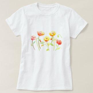 Watercolor Yellow and Orange Poppy T-shirt