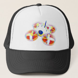 Watercolor Yellow/Red Inductrix Tiny Whoop Drone Trucker Hat