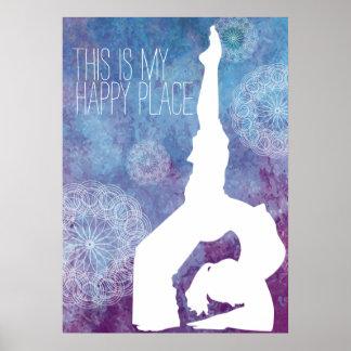 Watercolor Yoga Mandala Customizable | Poster