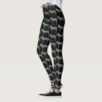 Watercolor zebras leggings