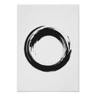 Watercolor zen circle poster