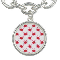 watercolorcute red crabs beach design bracelet