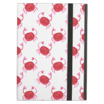 watercolorcute red crabs beach design iPad air covers