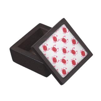 watercolorcute red crabs beach design jewelry box